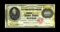 Large Size:Gold Certificates, Fr. 1225 $10000 1900 Gold Certificate Very Fine+. Some embossingremains on this cancelled issue dated Jan. 10, 1917. A bit ...