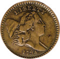 1794 1/2 C XF45 PCGS. C-9, B-9, R.2. Die State 1. High Relief Head. This is the common variety with the High Relief obve...
