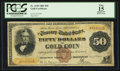 Large Size:Gold Certificates, Fr. 1190 $50 1882 Gold Certificate PCGS Apparent Fine 15.. ...