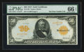 Large Size:Gold Certificates, Fr. 1199 $50 1913 Gold Certificate PMG Gem Uncirculated 66 EPQ.....