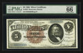 Large Size:Silver Certificates, Fr. 263 $5 1886 Silver Certificate PMG Gem Uncirculated 66 EPQ.....