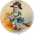 Political:Pinback Buttons (1896-present), William McKinley: Great Hobby Horse Pin....