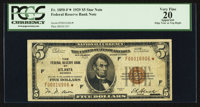 Fr. 1850-F* $5 1929 Federal Reserve Bank Note. PCGS Apparent Very Fine 20
