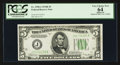 Fr. 1958-J $5 1934B Federal Reserve Note. PCGS Apparent Very Choice New 64