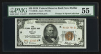 Fr. 1880-K $50 1929 Federal Reserve Bank Note. PMG About Uncirculated 55