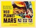"Movie Posters:Science Fiction, Red Planet Mars (United Artists, 1952). Half Sheet (22"" X 28"").From the collection of Wade Williams.. ..."