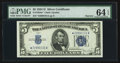 Fr. 1654* $5 Narrow Silver Certificate. PMG Choice Uncirculated 64 EPQ