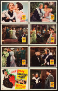 """Movie Posters:Comedy, Charley's Aunt (20th Century Fox, 1941). Lobby Card Set of 8 (11"""" X 14"""").. ... (Total: 8 Items)"""