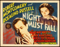 "Movie Posters:Thriller, Night Must Fall (MGM, 1937). Title Lobby Card (11"" X 14"").. ..."