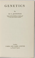 Books:Science & Technology, H. S. Jennings. Genetics. Faber & Faber, 1935. First edition, first printing. Minor rubbing to cloth boards. Lac...