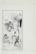 Original Comic Art:Splash Pages, Gil Kane Who's Who: The Definitive Directory of the DC Universe#25 Warlock of Ys, Green Lantern, and Zatanna Pin-...