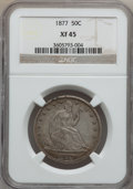 Seated Half Dollars: , 1877 50C XF45 NGC. NGC Census: (14/241). PCGS Population (24/250).Mintage: 8,304,510. Numismedia Wsl. Price for problem fr...