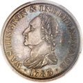 Colonials, 1783 1C Washington & Independence Cent, Draped Bust, No Button,Silver Restrike PR58 PCGS. Baker-3A, W-10380, R.6....