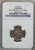 Buffalo Nickels: , 1915-S 5C -- Rev Improperly Cleaned -- NGC Details. VF. NGC Census:(8/563). PCGS Population (35/906). Mintage: 1,505,000. ...