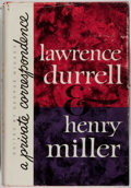 Books:Biography & Memoir, Lawrence Durrell & Henry Miller. A Private Correspondence. Dutton, 1963. First edition, first printing. Mild rubbing...