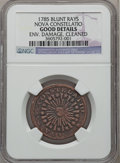 Colonials: , 1785 COPPER Nova Constellatio Copper, Blunt Rays -- Cleaned, Environmental Damage -- NGC Details. Good. NGC Census: (0/14)....
