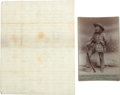 Photography:Cabinet Photos, Cabinet Photo of John Y. Nelson and Document. ... (Total: 2 Items)