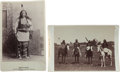 Photography:Cabinet Photos, Two Cabinet Cards, Indian Group and Brave Chief. ... (Total: 2 Items)