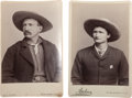 Photography:Cabinet Photos, Two Cabinet Photos, Head and Shoulders Cowboy Portraits. ...(Total: 2 Items)