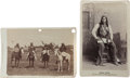 Photography:Cabinet Photos, Two Cabinet Cards, Indian Group and Eagle Chief.... (Total: 2Items)