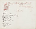 Autographs:Celebrities, Document in Buffalo Bill's Hand. ...