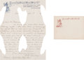 Miscellaneous:Ephemera, Letter and Envelope on Buffalo Bill's Wild West Stationery. ...(Total: 2 Items)