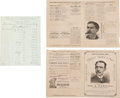 Advertising:Paper Items, Business Record and Two Pieces of Ephemera from 1886. ... (Total: 3Items)
