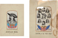 Antiques:Textiles, Two Buffalo Bill Stevensgraphs. ... (Total: 2 Items)