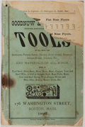 Books:Americana & American History, [Catalog]. Goodnow & Wightman Tools. Boston, 1882. 112pages. Worn, with chipping to wrappers and some pages. Re...