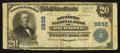 National Bank Notes:Kentucky, Richmond, KY - $20 1902 Plain Back Fr. 653 The Southern NB Ch. #9832. ...