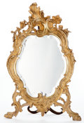 Furniture : French, A FRENCH LOUIS XV-STYLE GILT BRONZE TABLE MIRROR . Maker unknown,France, circa 1900. Marks: JM165. 24-1/2 x 14-1/2 x 2 ...