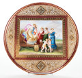 Ceramics & Porcelain, Continental:Antique  (Pre 1900), A GERMAN ROYAL VIENNA-STYLE PORCELAIN CHARGER . Circa 1900. Marks: (shield). 20 inches diameter (50.8 cm). ...