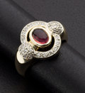 Estate Jewelry:Rings, Pink Tourmaline & Diamond Ring. ...