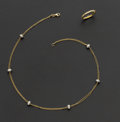 Estate Jewelry:Suites, Diamond & 18k Gold Ring & Bracelet. ... (Total: 2 Items)