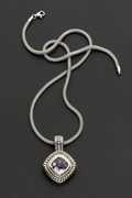 Estate Jewelry:Necklaces, Silver & Amethyst Necklace. ...