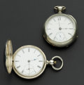 Timepieces:Pocket (pre 1900) , Two Key Wind 18 Size Pocket Watches. ... (Total: 2 Items)
