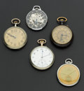 Timepieces:Pocket (post 1900), A Lot Of Five Pocket Watches Runners. ... (Total: 5 Items)