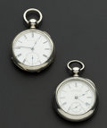 Timepieces:Pocket (pre 1900) , Two Waltham Silver 18 Size Key Winds. ... (Total: 2 Items)