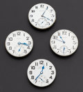 Timepieces:Other , Four 21 Jewels Watch Movements. ... (Total: 4 Items)