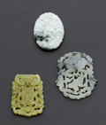 Estate Jewelry:Other , Three Pieces Of Chinese Jadeite. ... (Total: 3 Items)