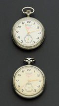 Timepieces:Pocket (post 1900), Two Serkisof Locomotive Pocket Watches. ... (Total: 2 Items)