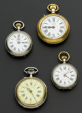 Timepieces:Pocket (post 1900), Four Roskopf Pocket Watches Runners. ... (Total: 4 Items)