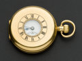 Timepieces:Pocket (post 1900), Swiss 18k Gold Demi-Hunter Gold Pocket Watch. ...