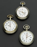 Timepieces:Pocket (post 1900), Three Roskopf Pocket Watches. ... (Total: 3 Items)