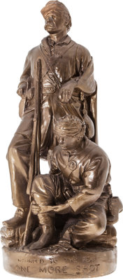 """The Iconic Civil War John Rogers Statuary Group """"Wounded To The Rear / One More Shot In Fine Condition."""""""