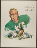 """Football Collectibles:Others, 1968 Bart Starr Signed Oversized """"Jack Webb"""" Print...."""