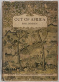 Books:Literature 1900-up, Isak Dinesen. Out of Africa. Random House, 1938. Firstedition. Publisher's cloth and dj. Ex-library, with shelf...