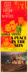 "Movie Posters:Drama, A Place in the Sun (Paramount, 1951). Insert (14"" X 36"").. ..."