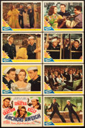 "Movie Posters:Musical, Anchors Aweigh (MGM, 1945). Lobby Card Set of 8 (11"" X 14"").. ...(Total: 8 Items)"