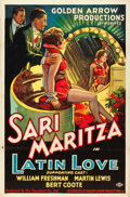 "Movie Posters:Romance, Latin Love (Golden Arrow Productions, 1930). One Sheet (27"" X41"").. ..."
